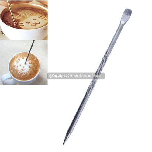 Pena Kopi/ Latte Pen/ Coffee Cappuccino Latte Art Pen Stainless Steel