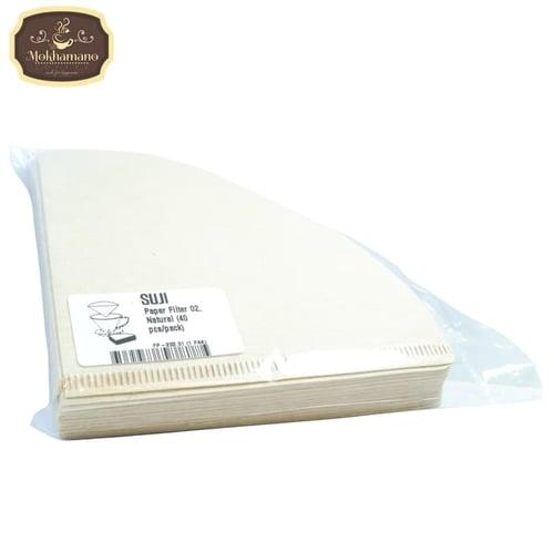 SUJI V60 Coffee Paper Filter / Kertas Filter Kopi VCF-02-40M Brown