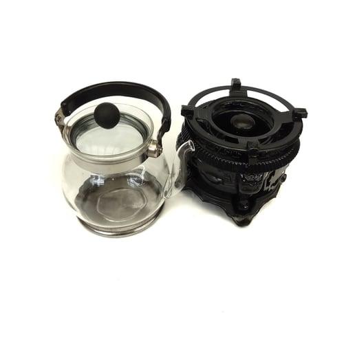 Shunda Vintage Kompor Mini Racha Mujigae with Tea & Coffee Glass Pot