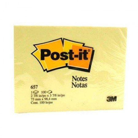 POST IT Classic Notes Yellow 657 HB 3 x 4 7000040053