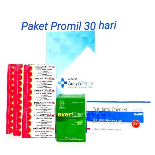 Paket Promil A 30 hari Best Seller! Program Hamil 30  hari 1 bulan Folavit Ever E Tes Pack
