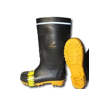 Cougar Sepatu Boot Gumboot Black 1912