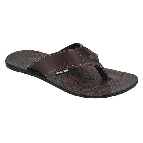 Catenzo NO 076 coklat | Sendal / sandal pria | kulit | model terbaru | trendy | murah berkualitas