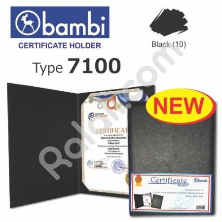 BAMBI Certificate Holder 7100