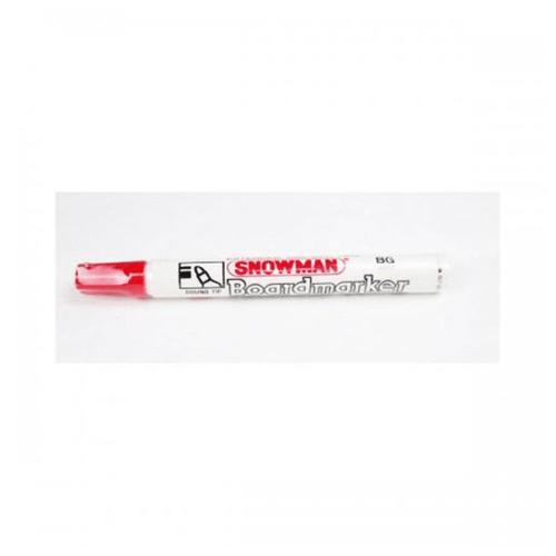 Snowman Spidol Board Marker BG 12 Merah