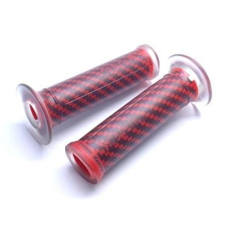 Grip Transparan Carbon 587 Kitaco Red