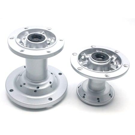 Tromol Set Silver KLX 28 Hole + Bearing Depan + Belakang