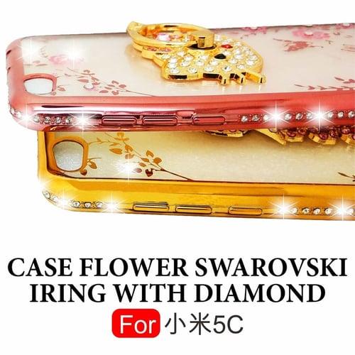 SOFT CASE FLOWER SWAROVSKI DIAMOND IRING XIAOMI MI5C MI 5C CASING KESING BACK