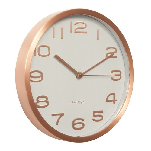 KARLSSON Jam Dinding Maxie Copper Numbers 29cm White