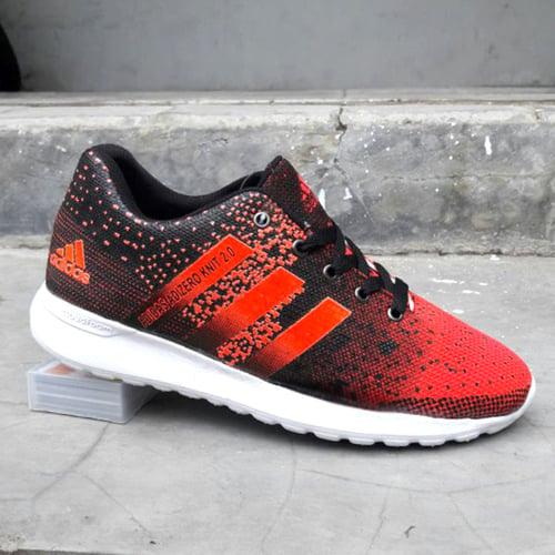 ADIDAS Sepatu Joging Adizero Knit 2.0 Orange Hitam