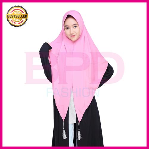 BPD Hijab Jilbab Kerudung Instan Khimar Square Instan Wolfis Wolvis Wolpeach