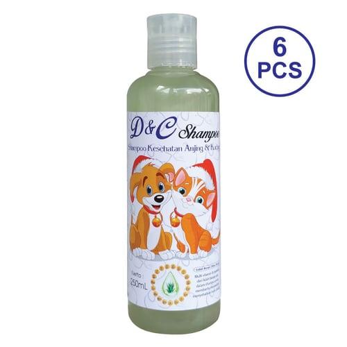 D&C Grosir Shampo Kesehatan Anjing & Kucing 6 Pcs - 250ML