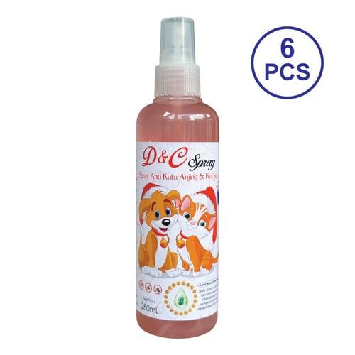 D&C Grosir Spray Anti Kutu Anjing & Kucing 6 Pcs - 250ML