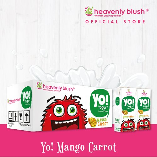 HEAVENLY BLUSH YO Mango Carrot 200ml 1 Box Isi 24pcs