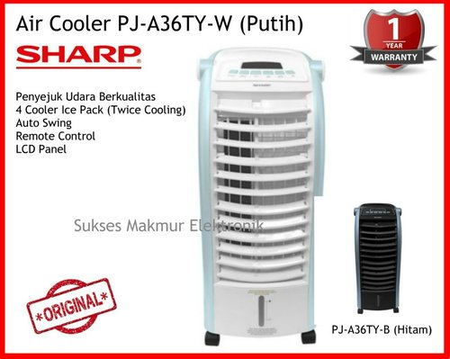 Sharp Air Cooler PJ-A36TY-W - Putih, 4 Ice Pack