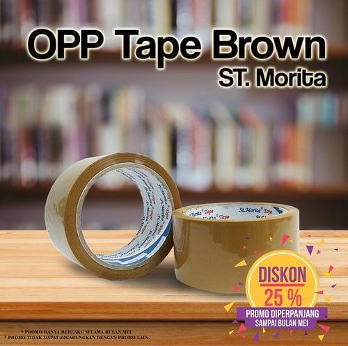 ST. MORITA - OPP TAPE 45 mic - LAKBAN 48 mm x 91 m - Brown