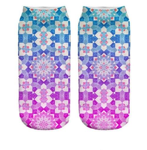 BODY GYM Yoga Sock Mandala Rainbow