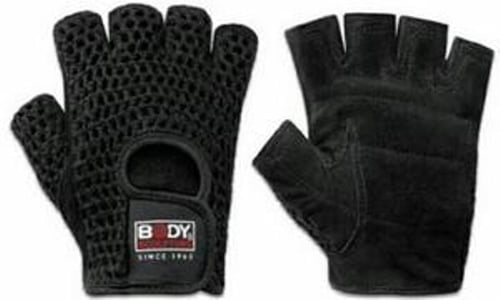BODY SCULPTURE Leather Fitness Gloves Nets S