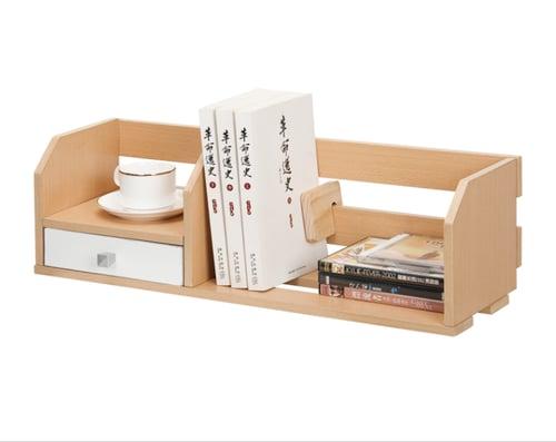 FUNIKA Rak Peralatan Kantor 11009 SBE WH Coklat Muda Putih