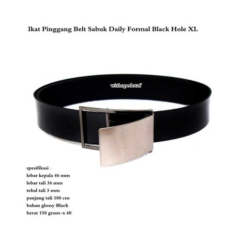 Ikat Pinggang Belt Sabuk Daily Formal Black Hole XL