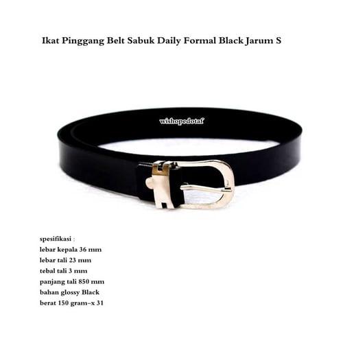 Ikat Pinggang Belt Sabuk Daily Formal Black Jarum S