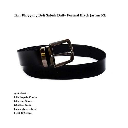 Ikat Pinggang Belt Sabuk Daily Formal Black Jarum XL
