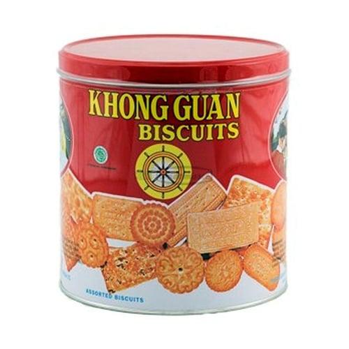 KHONG GUAN Assorted Biscuit Red Mini Kaleng 650gr