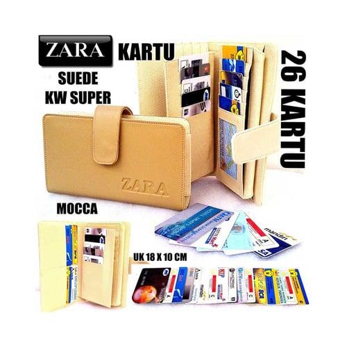 ZARA Dompet Kartu Card Wanita KW Super 26 Kartu Mocca