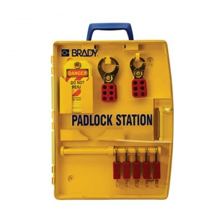 BRADY 105928 Padlock Station W/5 Safety Padlocks