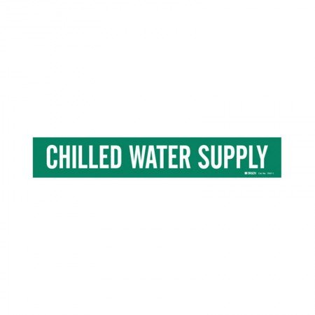 BRADY 7047-1 Vinyl Pipe Chilled Water Supply