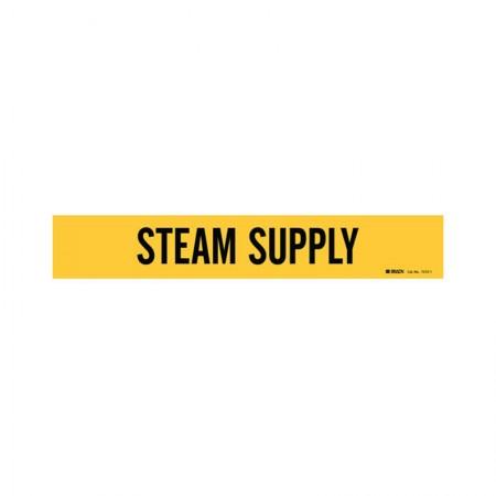 BRADY 7272-1 Vinyl Pipe Marker Steam Supply