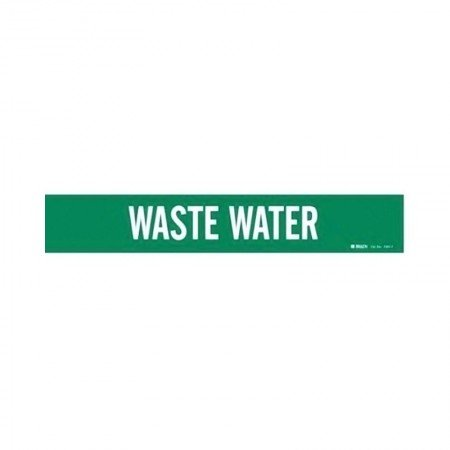 BRADY 7301-1 Vinyl Pipe Marker Waste Water
