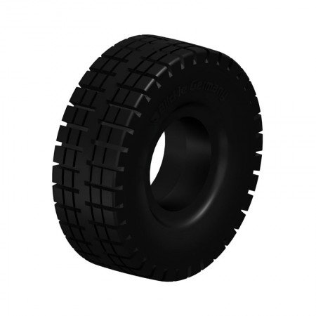 BLICKLE BSEV 3.00-4-RP Super Elastic Solid Rubber Tyres with Ribbed Profile Type:BSEV 4.00-8-RP