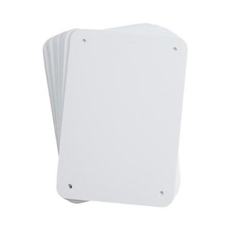 "BRADY 13620 B-401 Sign Blank White 4.25""X6.25"" (10/"