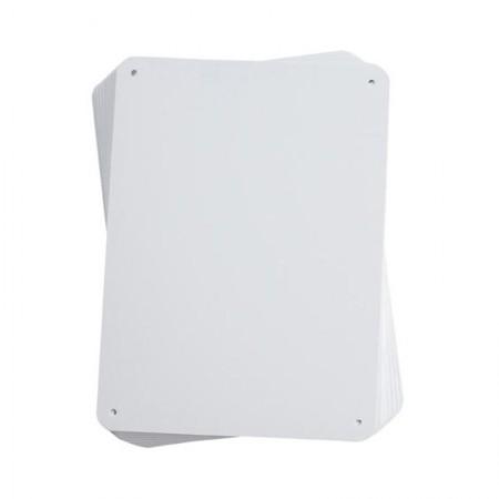 BRADY 13623 PowerMark Sign Blank White (10/PK) 7.63X