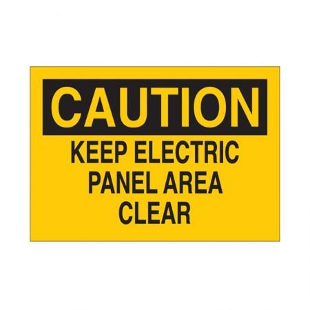 "BRADY 25512 B-401 ""Caution Keep Electric Panel Area"