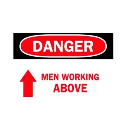 BRADY 42535 B-555 Danger Men Working Above (W/Up Arrow)