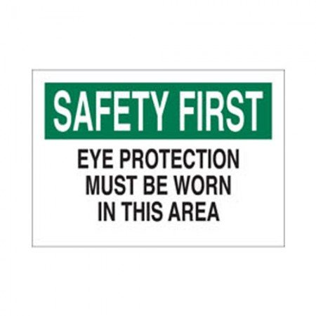 "BRADY 43154 Safety Sign ""Safety First"" 10X14"