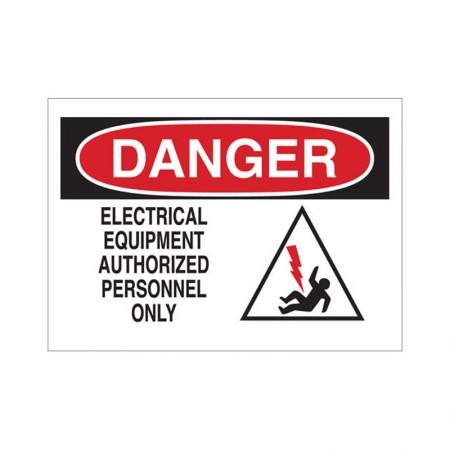 BRADY 43474 Electrical Hazard Sign