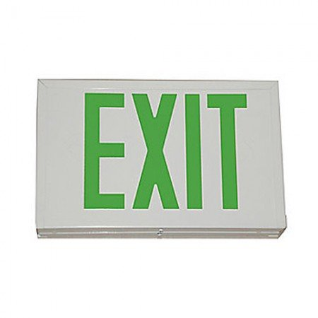 BRADY 56908 Exit Sign White Housing Green Len