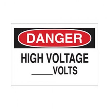 BRADY 69025 Electrical Hazard Sign