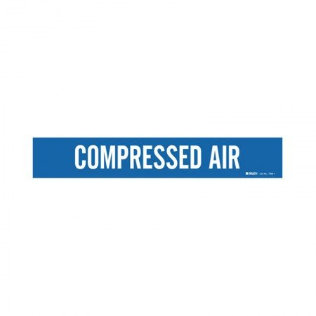 "BRADY 7060-1 Compressed Air 3-4"" Blue"