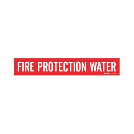 "BRADY 7110-1 Fire Protection Water 2""-6"" RED"