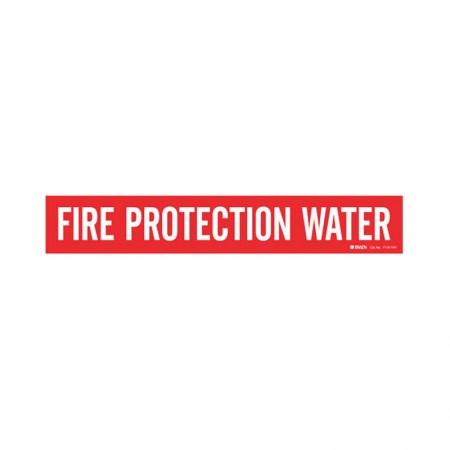 "BRADY 7110-1HV Fire Protection Water 8"""