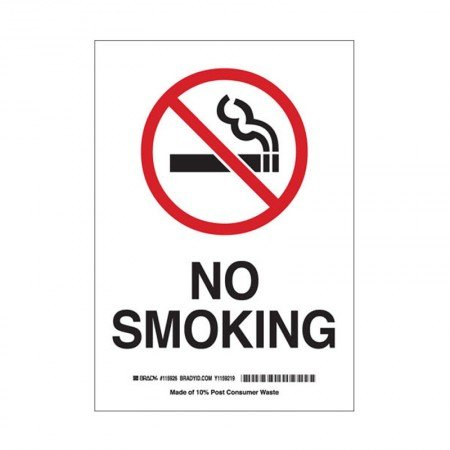 "BRADY 72295 B-324 Safety Sign ""No Smoking"""