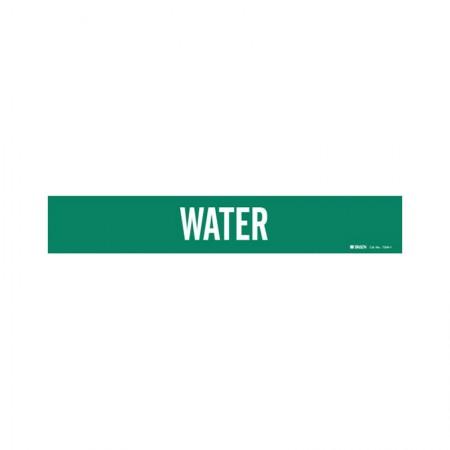 """BRADY 7304-1 Pipe Marker """"Water"""" Green"""
