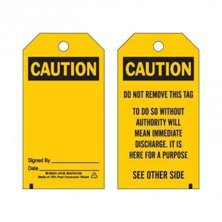 BRADY 76168 Blank Accident Prevention Tag (25)