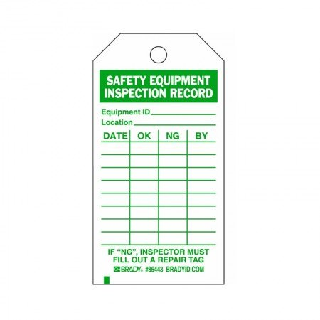 "BRADY 86443 B-837 Inspection Tag 5?""X3"" (10/PKG)"