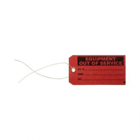 """BRADY 86756 B-853 Red Tag """"Equipment Out Of Service"""