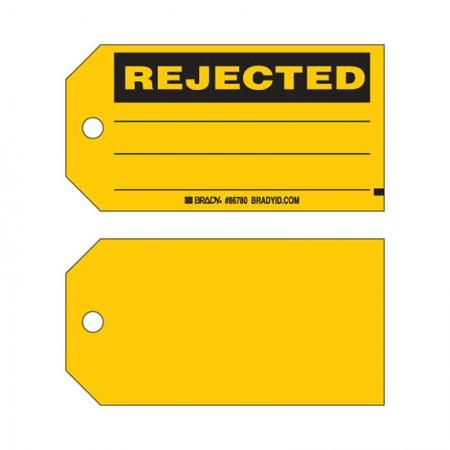 "BRADY 86780 B-853 Cardstock ""Rejected"" 3""X5.3/4"" (100/Pk)"
